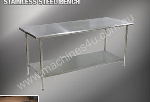 1220 X 610MM STAINLESS STEEL BENCH #430 GRADE
