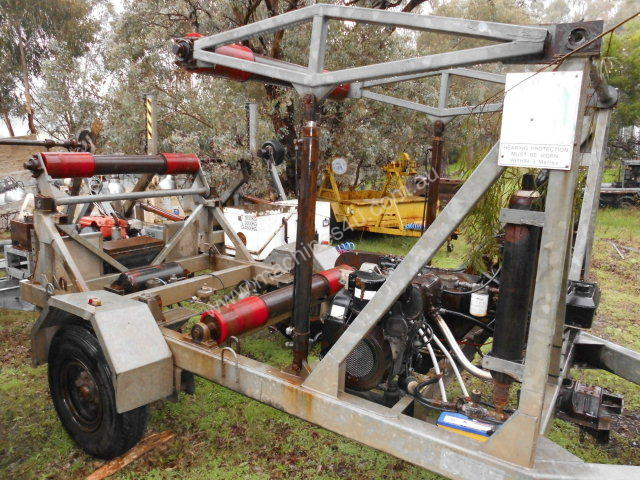 cable recovery trailer , line tensioner winch