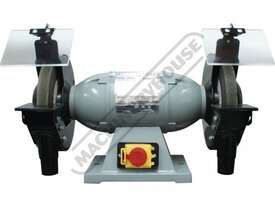 BG-8 Industrial Bench Grinder Ø200mm Fine & Coarse Wheels 0.75kW - 1HP Motor Power - picture2' - Click to enlarge