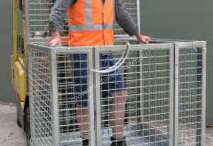 Forklift Man Cage Flat Packed with Mesh Sides