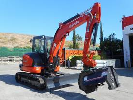 U57 5.5T Excavator fitted with 724mm Flail Mower