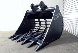 UNUSED 1650MM HEAVY DUTY RAKE BUCKET WITH TEETH SUIT 20-30T EXCAVATOR D612