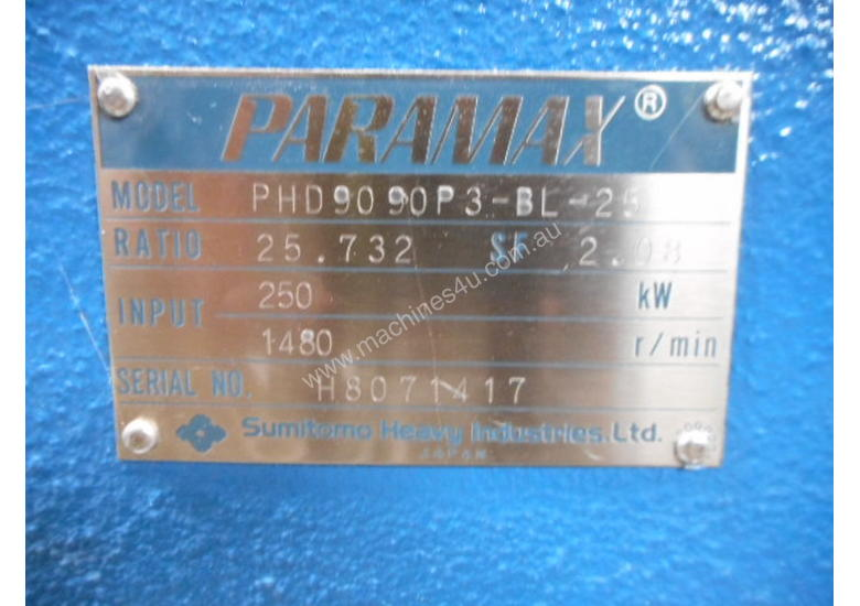 PARAMAX GEARBOX 25.7:1