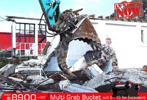 545mm Multi Grab Bucket 6-10 Ton Excavator ATTGRAB