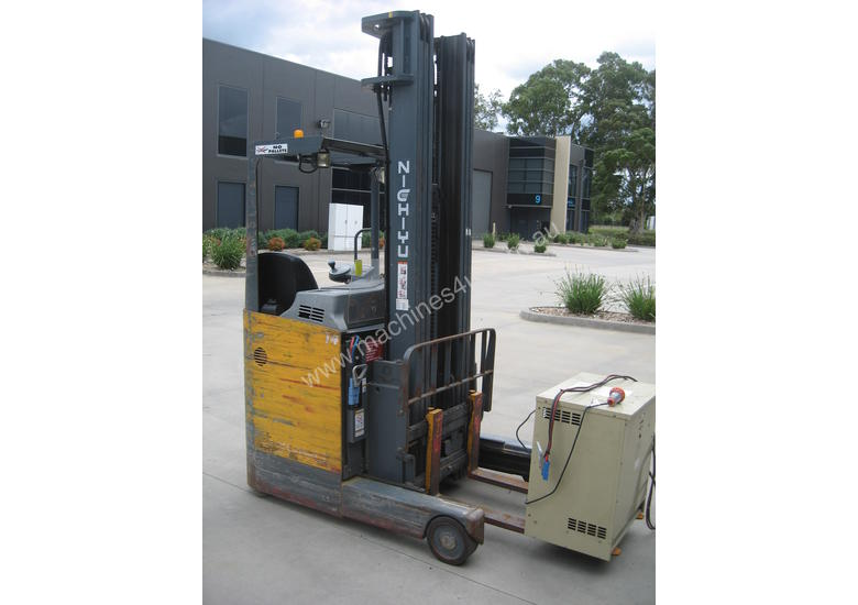 NICHIYU ELECTRIC SIDE SHIFTER FORKLIFT WITH REACH 6.5mt LIFT