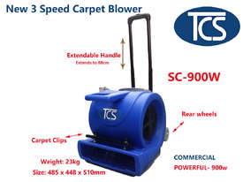 TCS NEW 900W COMMERCIAL INDUSTRIAL CARPET BLOWER DRYER / AIR CIRCULATOR - picture0' - Click to enlarge