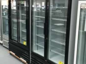 F.E.D Two Door Upright Display Fridge - Black Front - LG-1000BG - picture2' - Click to enlarge