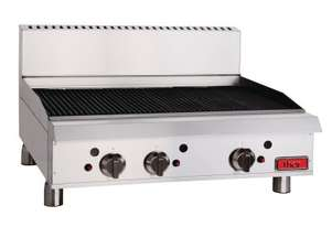 Thor Gas Char Broiler 36`` Radiantmanual controls with flame failure LPG