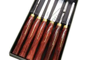 CHS6P HSS Wood Turning Tools - 6 Piece Set  Professional Chisel Set
