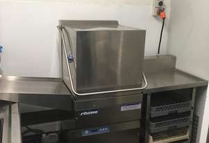 Rhima Commercial Dish Washer w Side Tables & 9 Trays