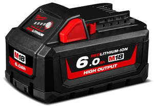 BATTERY 18V 6.0AH RED LITHIUM HIGHOUTPUT