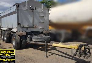 Alloy Super Dog Tipper Trailer on Airbag.  TS480