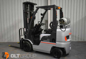 USED NISSAN P1F2A25DU COMPACT 2.5 TONNE FORKLIFT