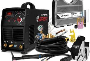 VIPER TIG 180 AC/DC Inverter TIG/ARC Welder Package Deal 5-180A, #KUM-M-VTIG180ACDC Includes Consuma