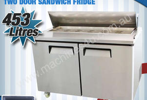 TWO DOOR SANDWICH FRIDGE - USS02-SS