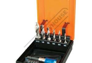 T0191 Metric HSS Combination Tap & Drill Set - 7 Piece M3, M4, M5, M6, M8, M10