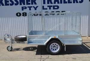 7 X 4 Heavy Duty Galvanised Trailer with Cage
