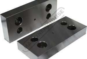 LJ-200V End Mount Hardened Jaws - 200mm Mounts To Outer Section of Vice when Maximum Opening is Requ