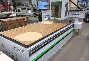 CNC ROUTER 1300 x 2500 x 200MM 24000RPM HSD SPINDLE 415V WITH 9 DRILL BOARING UNIT R1325ATC SAMACH