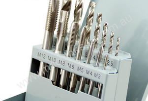 HSS Machine Tap & Drill 14pcs Set M3-M12