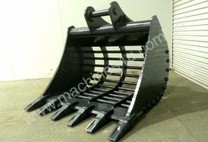 UNUSED 1400MM HEAVY DUTY RAKE BUCKET WITH TEETH SUIT 16-25T EXCAVATOR D611