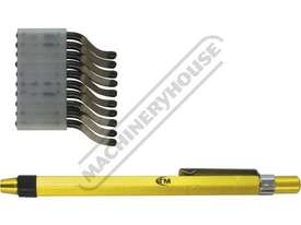 D061 Deburring Tool - Pocket Clip Includes 10 HSS Blades - picture0' - Click to enlarge