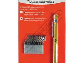 D061 Deburring Tool - Pocket Clip Includes 10 HSS Blades - picture2' - Click to enlarge