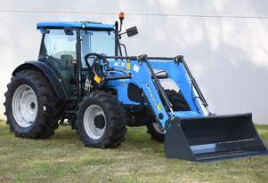 Landini Powerfarm 110 RPS 4WD cab with 4 in 1 loader
