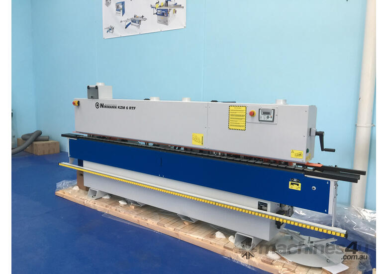 NikMann RTF-v23 edge banding machine with corner rounder and pre milling