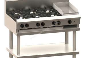Luus CS-8B 1200mm Cooktop with 8 Burners & Shelf Professional Series