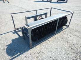Unused 1800mm Hydraulic Angle Broom to suit Skidsteer Loader - 10419-28 - picture0' - Click to enlarge