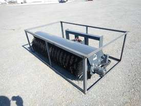 Unused 1800mm Hydraulic Angle Broom to suit Skidsteer Loader - 10419-28 - picture1' - Click to enlarge