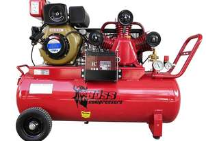 BOSS 18CFM/ 4HP Diesel Powered Air Compressor 100L Tank (E/Start)