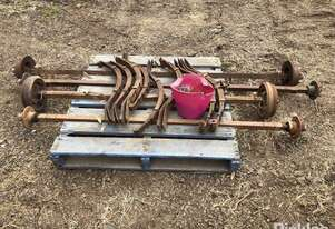 Axle Sets: 2 X Tandem Trailer Axle Sets with Springs, 2 X Disc Brakes 2 X Drum