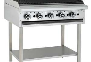900mm Chargrill with legs & shelf