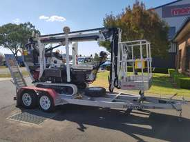 13m Crawler Mounted Spider Lift & Trailer package - picture3' - Click to enlarge