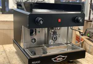 WEGA PEGASO 1 GROUP SEMI AUTOMATIC BLACK ESPRESSO COFFEE MACHINE