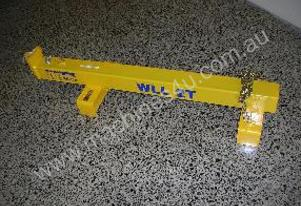 2 ton forklift jib with hook and chains