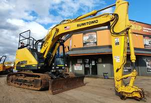 2017 SUMITOMO SH145X-6 EXCAVATOR WITH BLADE AND LOW 2300 HOURS