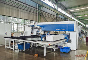 Yawei HPML-30510 Laser Punch. Take your production to another level. Punch. Form. Tap. Laser Cut.
