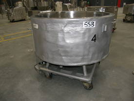 Stainless Steel Jacketed Tank - Capacity 700 Lt