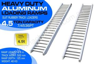 Ramps - 4.5 Ton Aluminium Loading Ramps 500mm WIDE