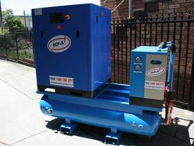 German Rotary Screw - Variable Speed Drive 30hp / 22kW Rotary Screw Air Compressor.. Power Savings - picture0' - Click to enlarge