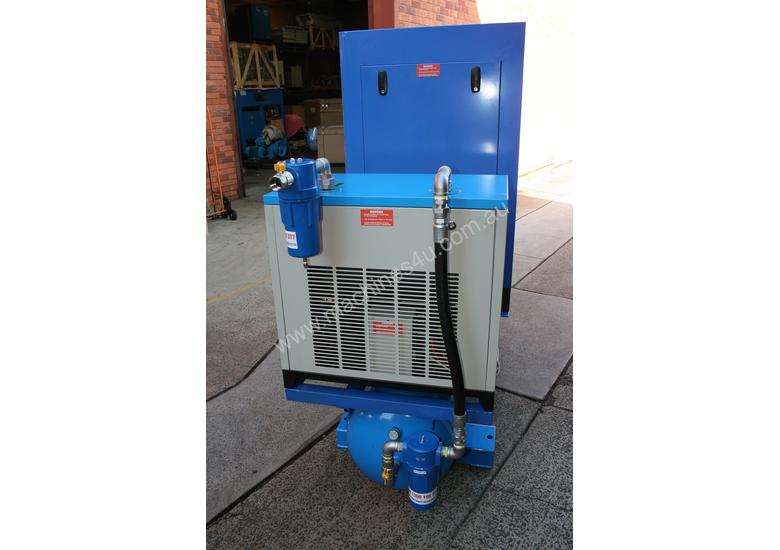 15hp / 11kW Rotary Screw Air Compressor Package with Tank, Dryer & Oil Removal Filters
