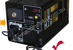 Mig Welder Unimig 210-amp with H-D wire feeder, Ma