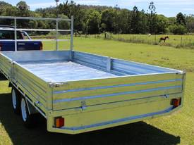14x7 Flat Top Galvanised Trailer Carry Hay NEW