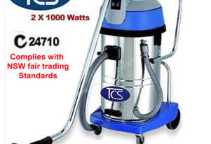 TCS Commercial 60L Wet & Dry Vacuum Cleaner with 2 x 1000W Ametek Motors SC-602J