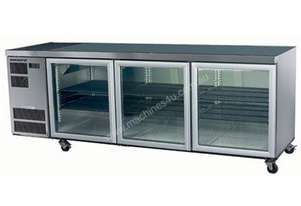 Skope CC500 Slimline Series Three Door Bench Fridge - 2210mm