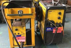 WIA MIG Welder Weldmatic 335 with 4RD Wire Feeder 415 Volt on Trolley