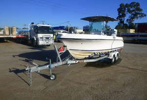 6m Centre Console Boat with 2017 John Papas 7m Boat Trailer - In Auction